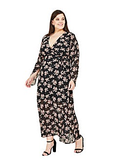Mela London Curve Floral Midi Dress