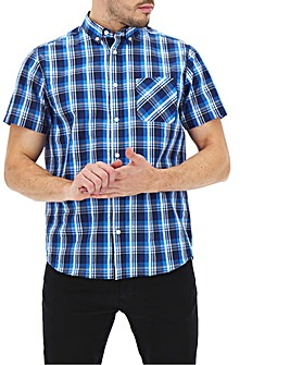 Blue Check Seersucker Shirt