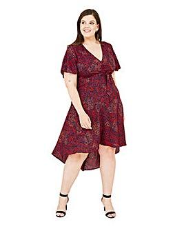 Mela London Curve Animal Wrap Asymmetric Dress