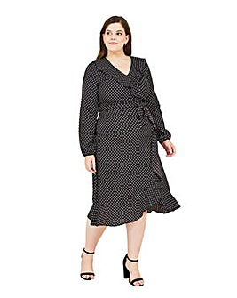 Mela London Curve Spotted Midi Dress