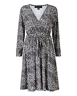 Mela London Curve Animal Wrap Dress
