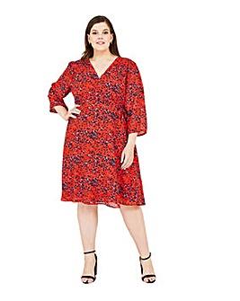 Yumi Curves Animal Print Wrap Dress