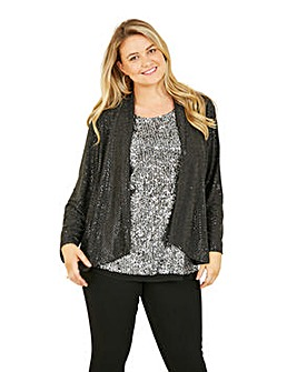 Mela London Curve Black Sequin Jacket