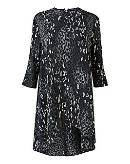 Mela London Curve Grey Leopard Tunic