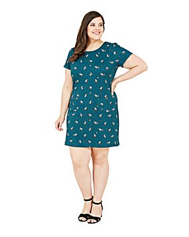 Yumi Curves Racoon Tunic Dress