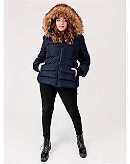 Lovedrobe Navy Padded Coat