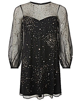 Monsoon Stefania Embellished Star Dress