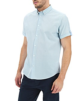Aqua Print Short Sleeve Shirt