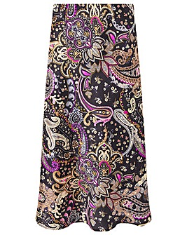 Monsoon PAISLEY PRINT SATIN SKIRT