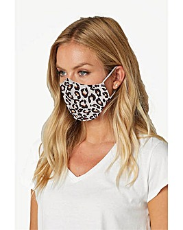 Roman Leopard Print Face Covering