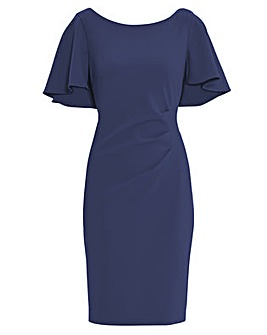 Gina Bacconi Chana Stretch Crepe Dress