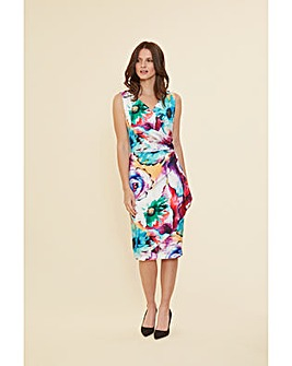 Gina Bacconi Islette Floral Wrap Dres