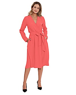 Gina Bacconi Junie Crepe Wrap Dress