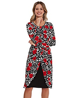 Gina Bacconi Bettina Knot Wrap Dress