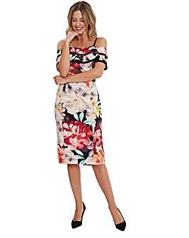 Gina Bacconi Amber Floral Scuba Dress