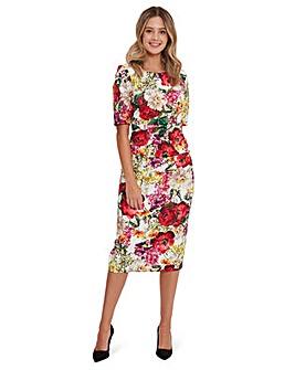 Gina Bacconi Cybil Floral Scuba Dress