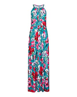 Yumi Curves Poppy Floral Maxi Dress