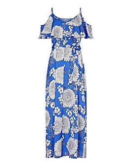 Yumi Curves Big Floral Maxi Dress