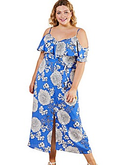 Yumi Curves Big Floral Maxi Dress