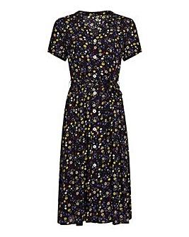 Yumi Curves Ditsy Floral Midi Dress