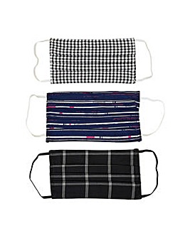 Yumi Stripe Check Face Coverings Pack of