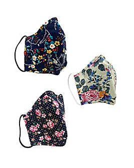Yumi Flower Face Coverings Pack of 3