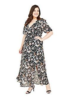 Yumi Curves Sketchy Floral Maxi Dress