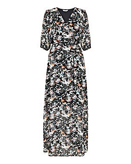 Yumi Curves Sketchy Floral Maxi Dress