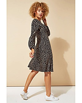Roman Pebble Spot Print Tea Dress