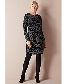 Roman Animal Print Pocket Dress