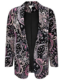 Monsoon Paisley Print Velvet Jacket