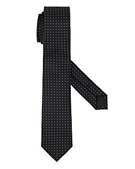 Black/Silver Metallic Slim Tie
