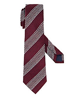 Wine Wide Stripe Tie
