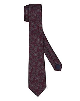 Wine Paisley Large Print Tie