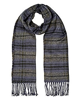 Charcoal Check Tassle Scarf