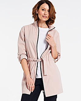 Soft Pink Soft Touch Microfibre Jacket