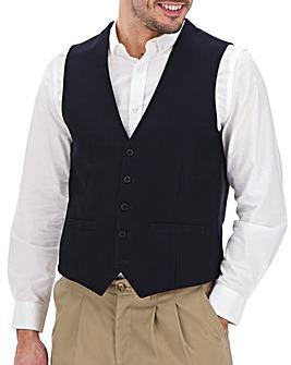Navy Simon Herringbone Waistcoat