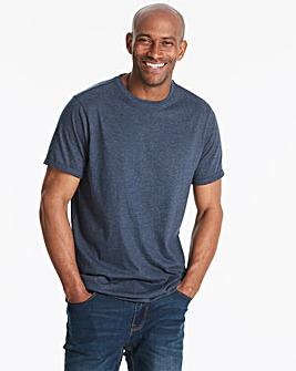 Navy Marl Roll Sleeve T-Shirt