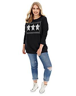 Leopard Stars Sweatshirt