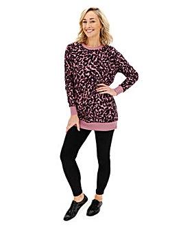 Leopard Placement Sweatshirt