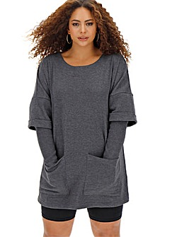 Long Sleeve Sweat Tunic