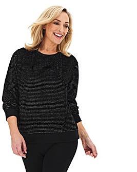 Glitter Stripe Sweatshirt