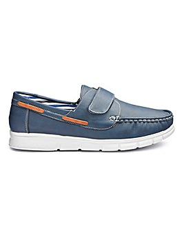 Cushion Walk Touch and Close Boat Shoes Standard Fit