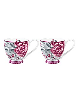 Portobello Set of 2 Sandringham Mugs