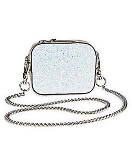Trixie White Glitter Mini Shoulder Bag