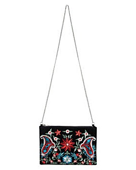 Pieces Jessica Embroidered Clutch Bag