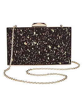 Joanna Hope Velvet Glitter Clutch Bag