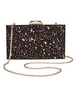 Joanna Hope Velvet Glitter Clutch Bag