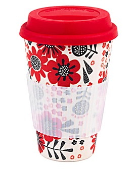 Polka Dot Garden Travel Mug
