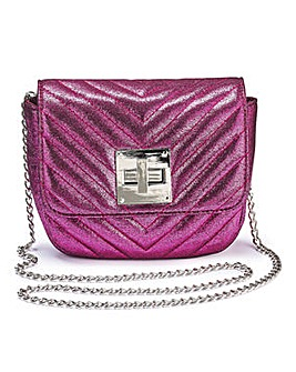 Carrie Pink Mini Quilted Shoulder Bag